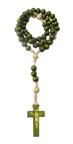 Ruženec (RKZ021) drevo + šnúrka - zelený