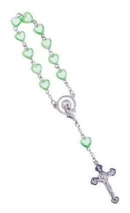 Ruženec des. (R196) srdiečkový - zelený