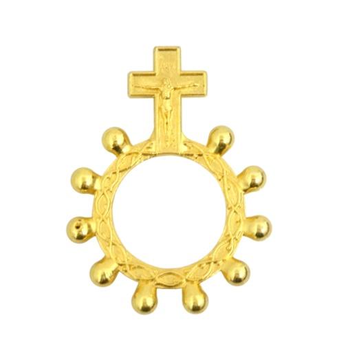 Ruženec des. kov. (MO123) - zlatý