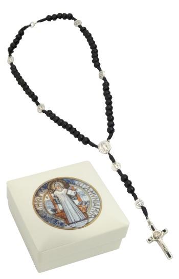 Ruženec s krabičkou (197/46) Benediktínsky - čierny
