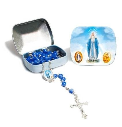Ruženec s krabičkou (1037) - modrý