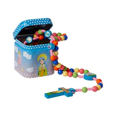 Ruženec s krabičkou (3900) detský - farebný