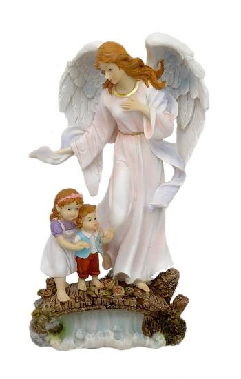 Anjel strážny s deťmi (5187A) - ružový
