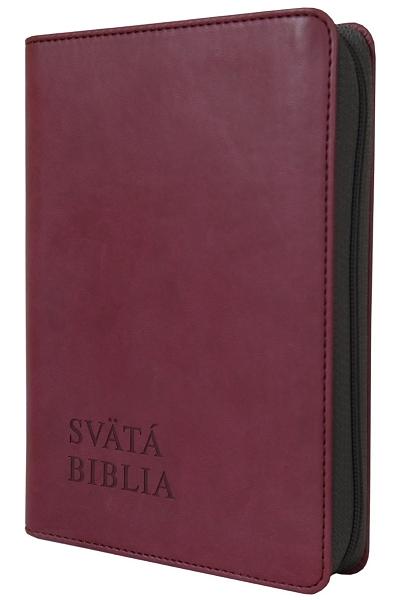 Svätá Biblia / Roháček vrecková - bordová