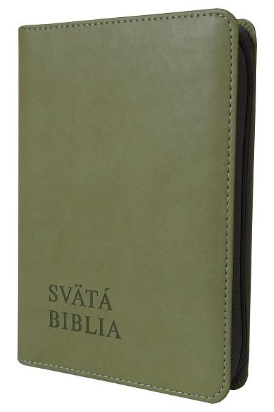 Svätá Biblia / Roháček vrecková - olivová