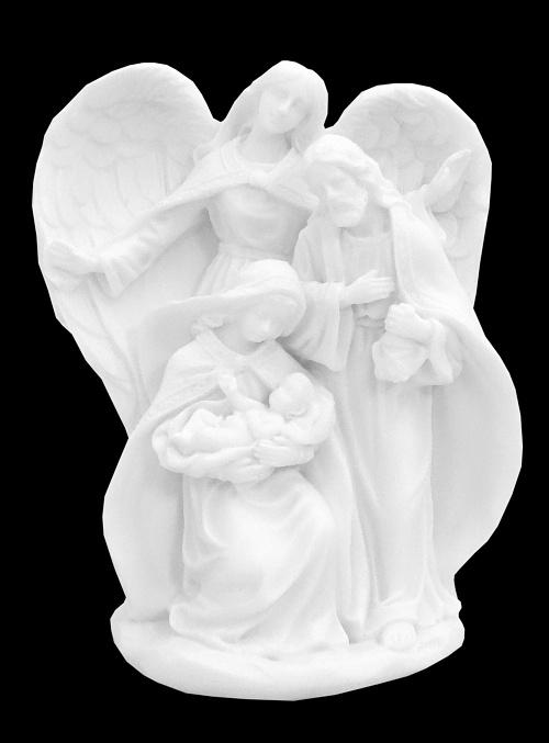 Svätá rodina (227) anjel - alabaster
