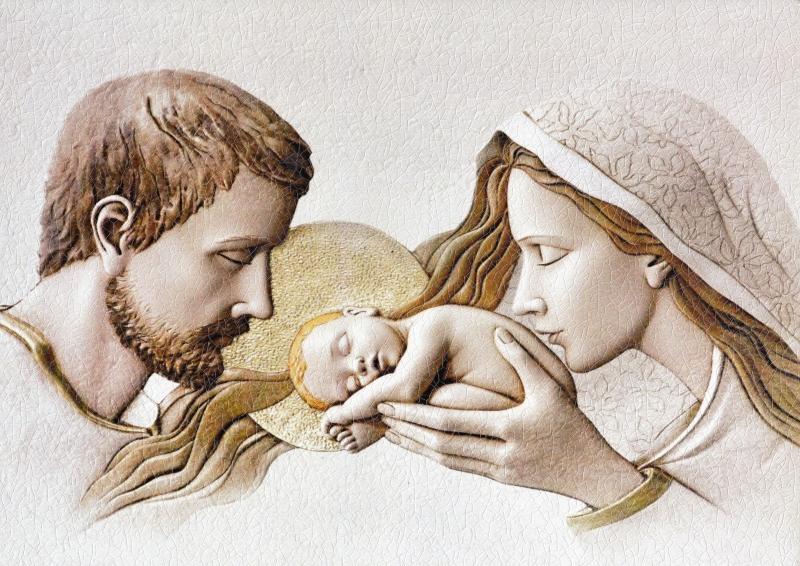 Obraz na plátne: Svätá rodina - relief (70x100)