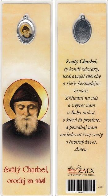 Záložka s medailónom (Z003) Svätý Charbel, oroduj za nás!