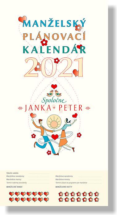 Kalendár 2021 (nástenný) - Manželský plánovací kalendár
