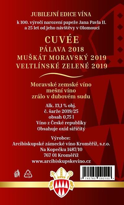 Mešní víno: Jan Pavel II. 2019