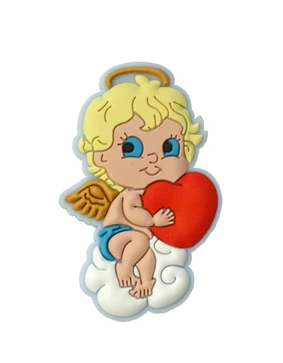 Magnetka gumená (5624-B) - Anjel so srdcom