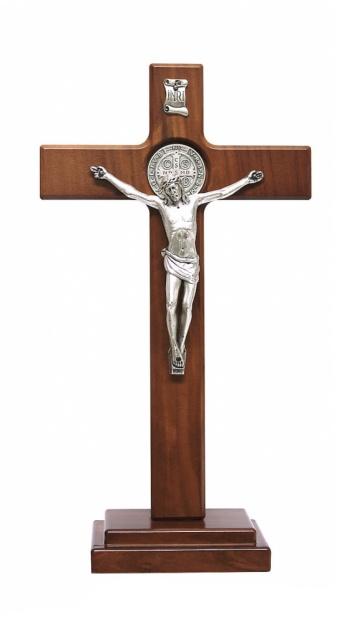 Kríž drev. na postavenie (PG646-B) Benediktínsky - hnedý