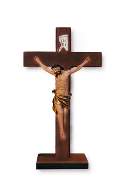Kríž drev. na postavenie (2817) - bordový