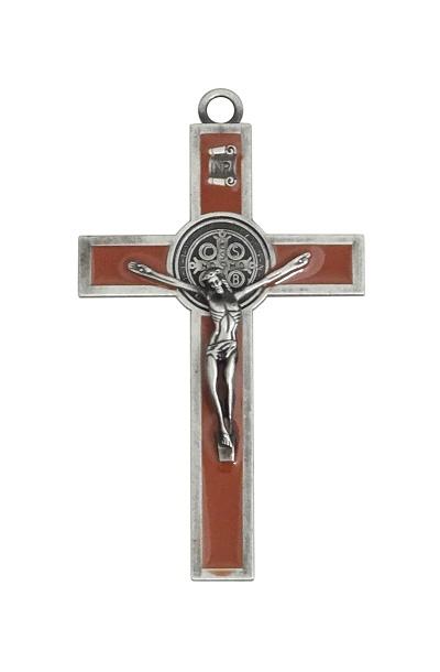 Kríž kov. (K2063S) Benediktínsky - hnedý