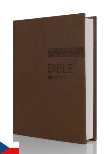Bible ČEK s DT, veľký formát - hnedá
