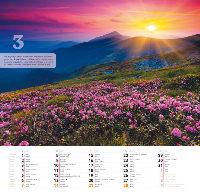 Kalendár 2021 (nástenný) Farebný svet / PG