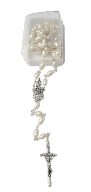 Ruženec s krabičkou (R375) PMF biele perly