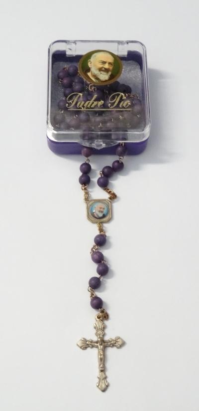Ruženec sv. Pátra Pia s krabičkou