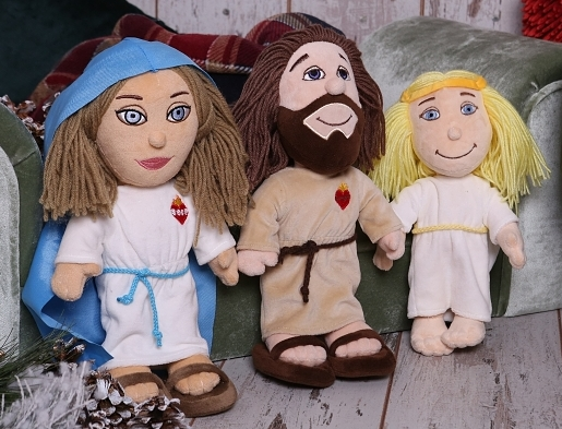 Sada: Ježiš, Mária, Anjel - plyšové hračky