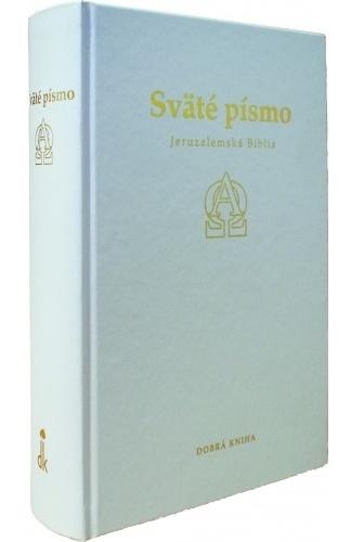 Sväté písmo - Jeruzalemská Biblia - (darčeková) biela obálka s ilustráciami Stanislava Dusíka