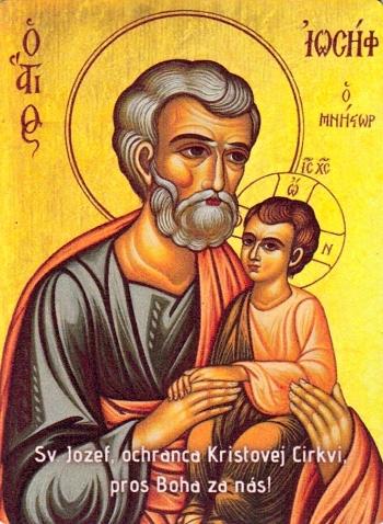 Magnetka - Sv. Jozef, ochranca... (Ikona)