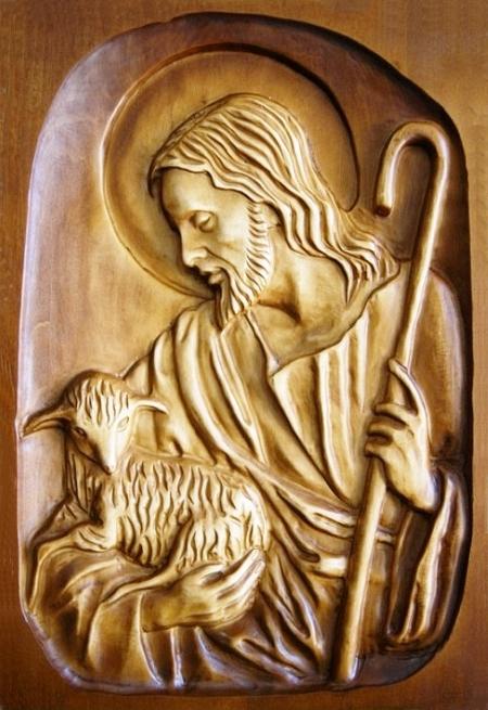 Drevorezba: Obraz – Pán Ježiš pastier (DR-3B)