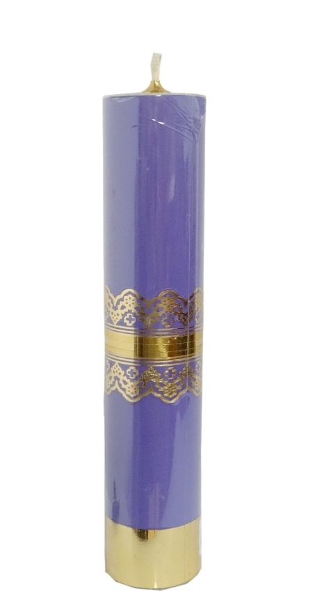 Sviečka olejová 32 cm – fialová