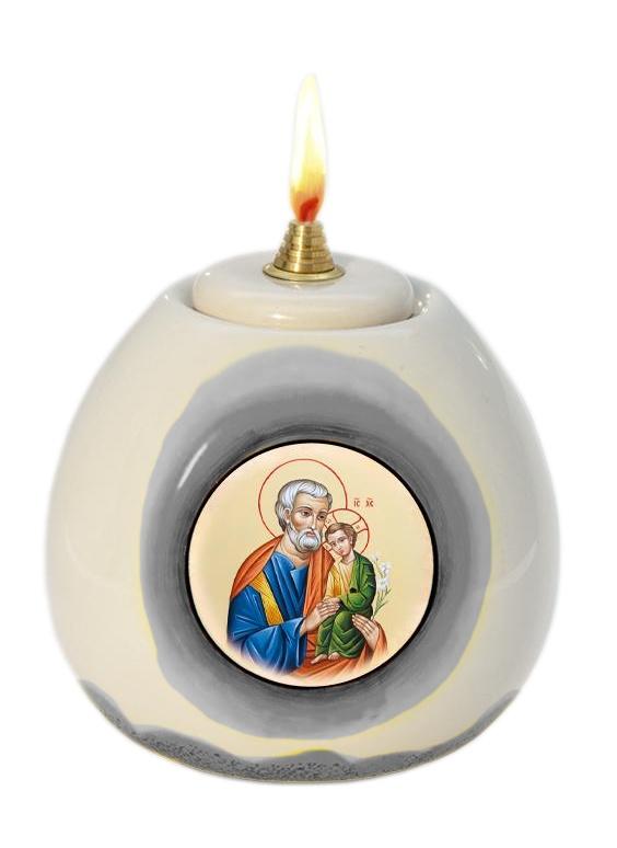 Lampa olejová (3233) Svätý Jozef - čierna