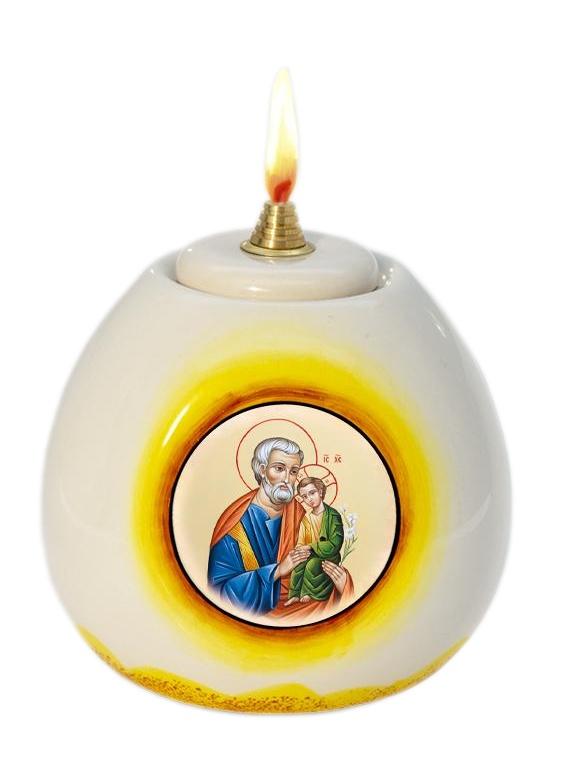 Lampa olejová (3233) Svätý Jozef - žltá