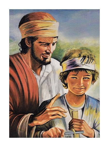 Obraz na dreve: Svätý Jozef (30×20)