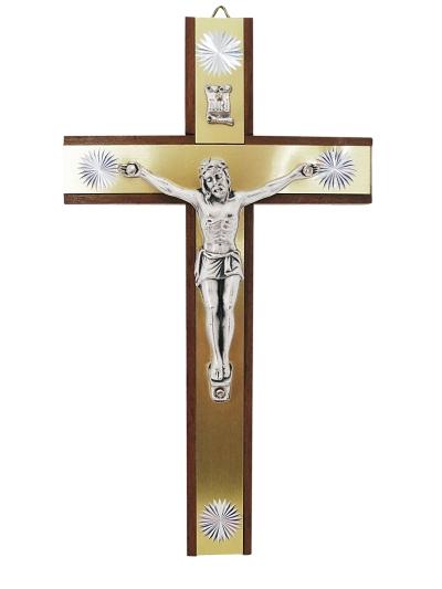 Kríž drev. s lištou – hnedý
