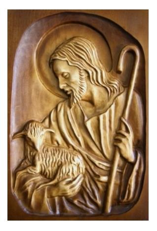Drevorezba: Obraz - Pán Ježiš pastier (DR-3A)