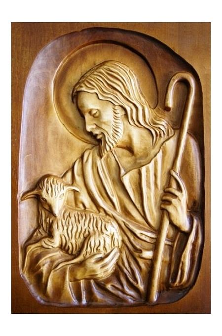 Drevorezba: Obraz – Pán Ježiš pastier (DR-3A)