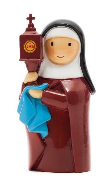 Soška (185584YX) Sv. Klára z Assisi