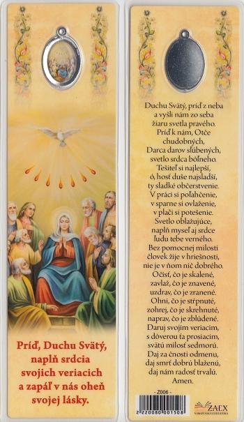 Záložka s medailónom (Z006) Príď, Duchu Svätý...