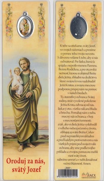 Záložka s medailónom (Z007) Oroduj za nás, svätý Jozef