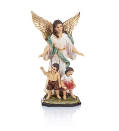 Anjel strážny s deťmi (ZY17627-8H) - 20 cm