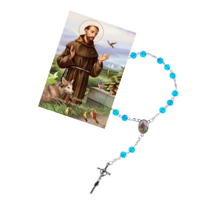 Ruženec (R1232) s obrázkom (Z042) – sv. František z Assisi