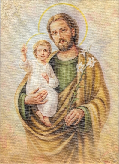 Obraz na plátne (2963/S40) – Svätý Jozef