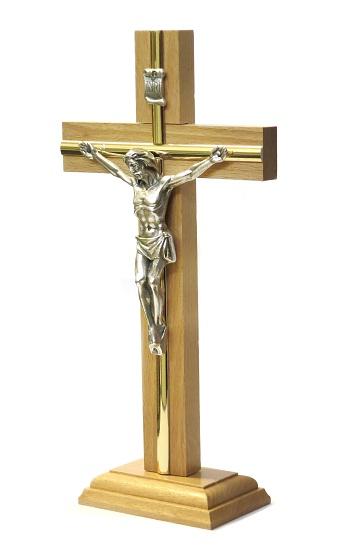 Kríž drev. s lištou na postavenie (KSZ06) - bledý