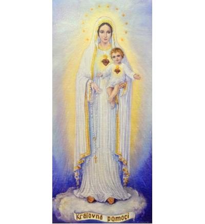 Obraz na dreve: Panna Mária z Dechtíc (60×30)
