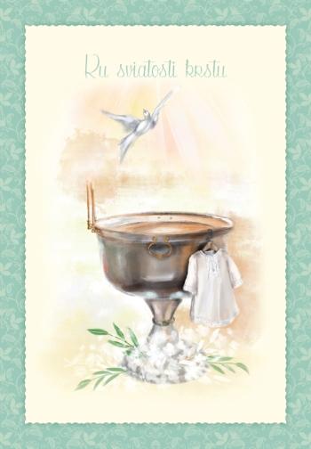 Pozdrav s textom – Ku sviatosti krstu
