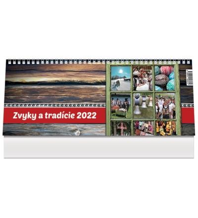 Kalendár 2022 (stolový) Zvyky a tradície