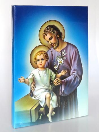 Obraz bez rámu (BR1005-A3) Svätý Jozef - modrý