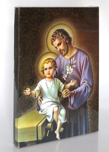 Obraz bez rámu (BR1005-A3) Svätý Jozef - hnedý