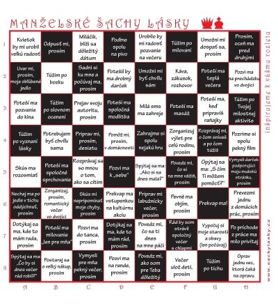 Manželské šachy lásky (čiernobiele)