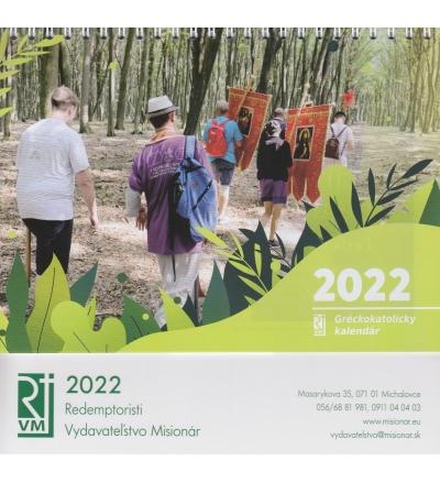 Gréckokatolícky kalendár 2022 (stolový) / Misionár