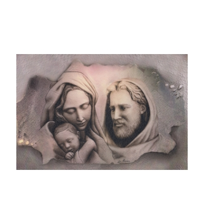 Obraz na dreve (ODZ079) - Svätá rodina (30x20)