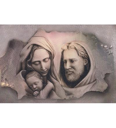 Obraz na dreve (ODZ079) - Svätá rodina (40x30)