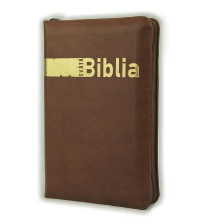 Svätá biblia / Roháčkov preklad, so zipsom, s indexami, hnedá
